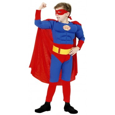 Disfraz Super Heroe musculoso niño