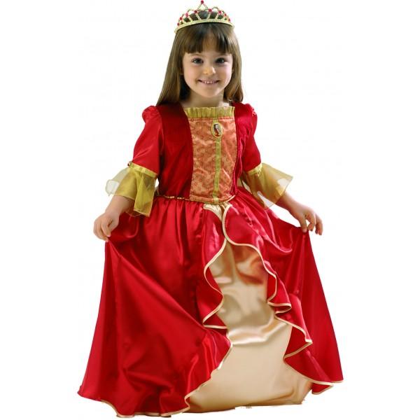 Disfraz Bella Rojo Lujo niña
