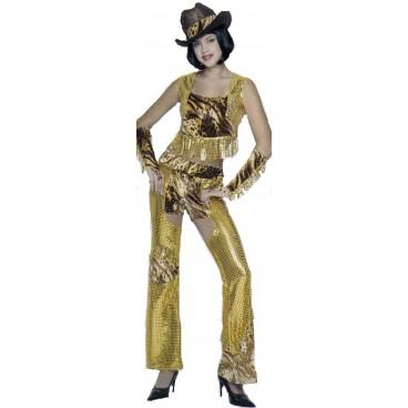 Disfraz Vaquera Oro