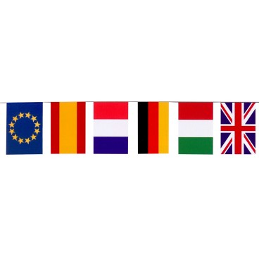 Banderas Internacional Papel 50 M.