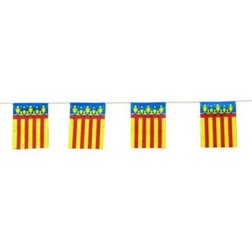 Banderas Comunidad Valenciana Plástico 50 M.