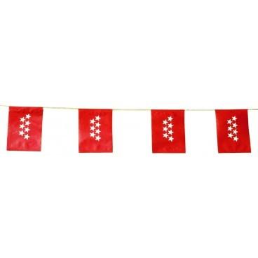 Banderas Madrid Plástico 50 M.