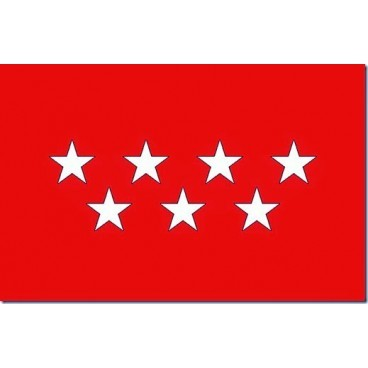 Bandera Madrid Tela 150X100 CM