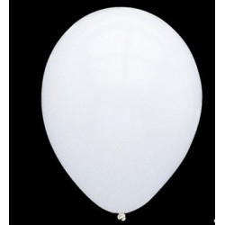 GLOBOS NORMALES COLOR BLANCO, 10 UN.