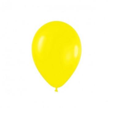 Globos Normales color Amarillo, 10 unidades
