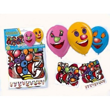 Bolsa 10 Globos con Stickers