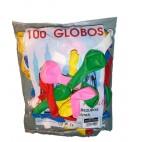 Globos Normales Colores Surtidos 100 unidades