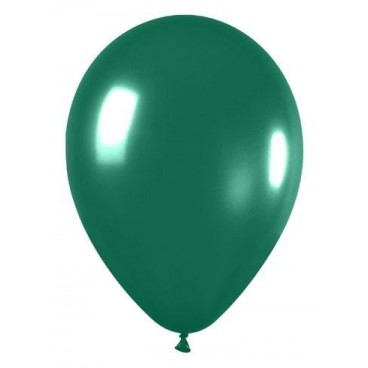 Globos Metalizado Verde, 25 Unidades