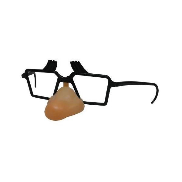 Gafas con Cejas y Nariz Plástico, 6 unidades