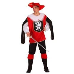 Disfraz Mosquetero Rojo Adulto