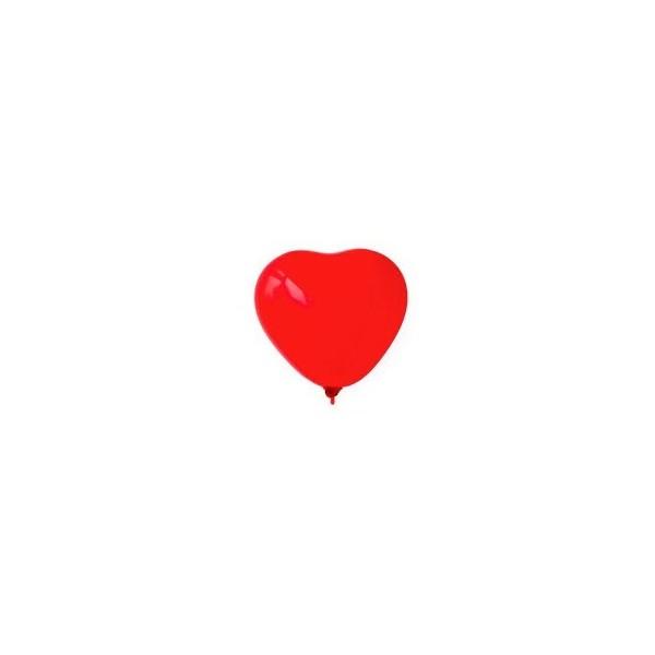 Globos forma corazón lisos 25 UN.