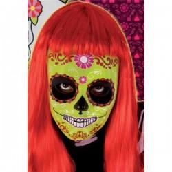 Máscara Calavera Katrina Flor