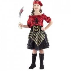 Disfraz Pirata Niña Terciopelo infantil