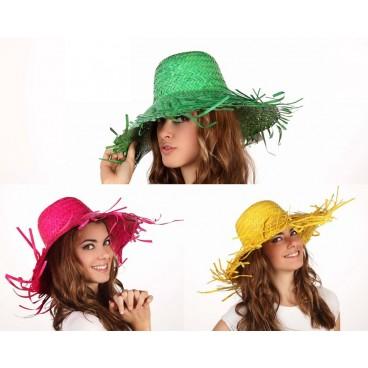 Sombrero de Paja de Colores