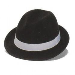 Sombrero Gánster Fieltro Negro