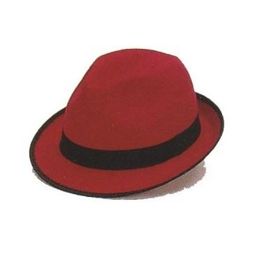 Sombrero Gánster Fieltro Rojo