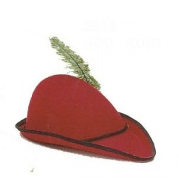 Sombrero Robin Hood Fieltro Rojo