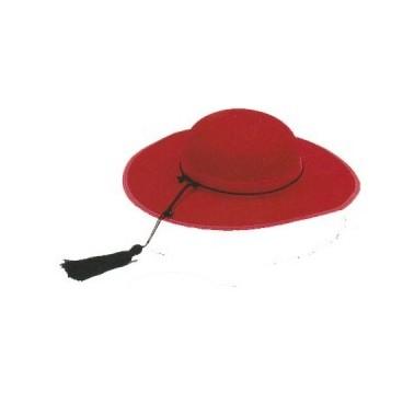 Sombrero Cardenal Fieltro Rojo