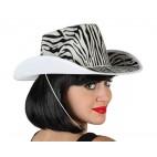 Sombrero Cowboy Cebra Blanco y Negro
