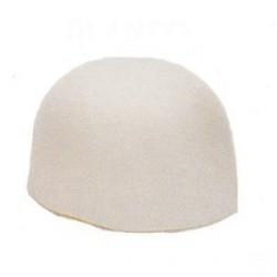 Sombrero Casquete Fieltro Blanco
