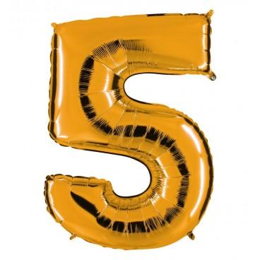 Globos Forma Número 5