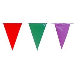 Banderas Triangulares Plástico Multicolor 50 M.