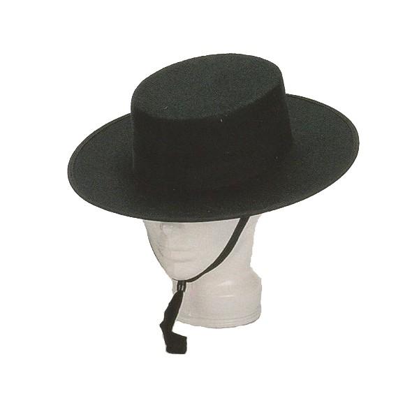 Carnavalandia tienda disfraces Sombrero Cordobes Fieltro Negro 25d0460e40b
