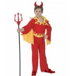 Disfraz Demonio Llamas niño