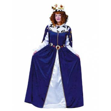Disfraz Reina medieval Azul