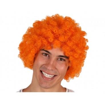 Peluca Rizos Naranja