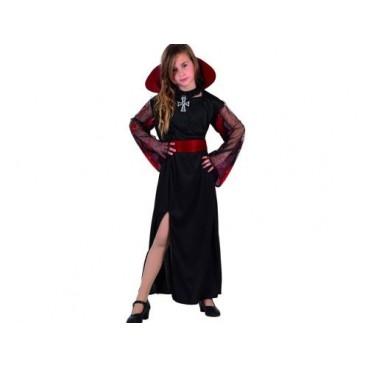 Disfraz Vampiresa con cuello niña