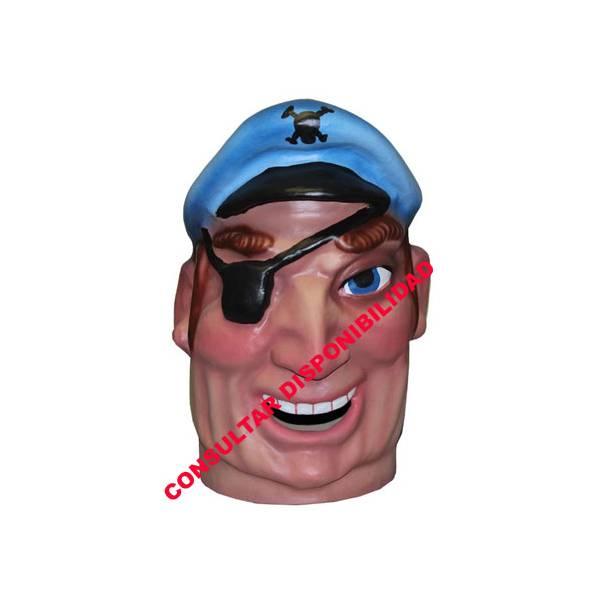 Cabezudo Infantil Pirata Parche