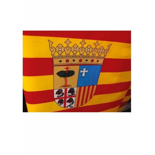 Bandera Aragón con Escudo Tela 80 cm. ancho y corte por metro