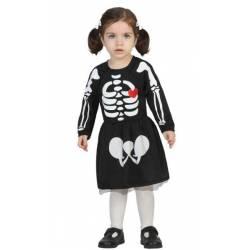 Disfraz Bebe Esqueleto Chica