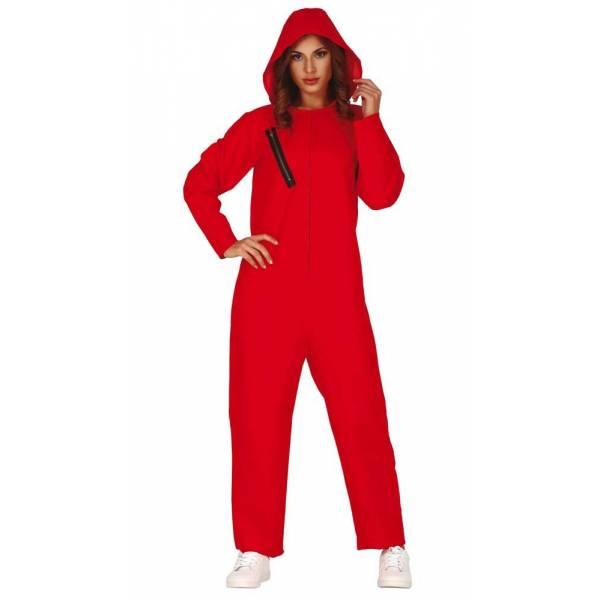 Disfraz Convicta Rojo Adulta