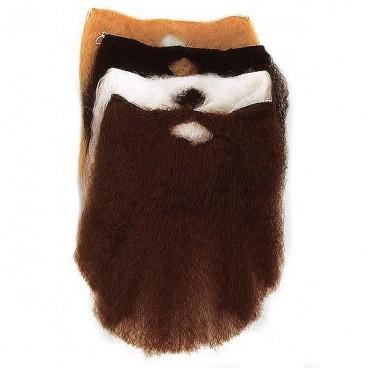 Barba Con Bigote Grande Blanca