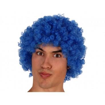 Peluca Rizos Azul