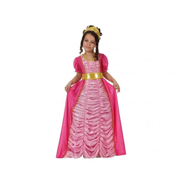 Disfraz Princesa Cuento Rosa Lujo niña
