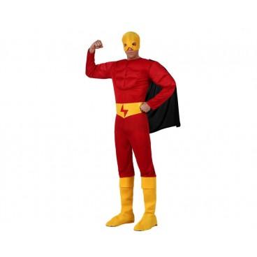 Disfraz Heroe Musculoso Rojo