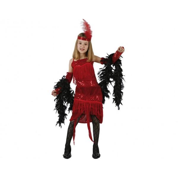 disfraz charlestone rojo infantil