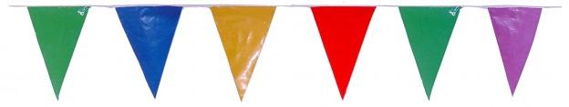 banderas triangulares para fiestas