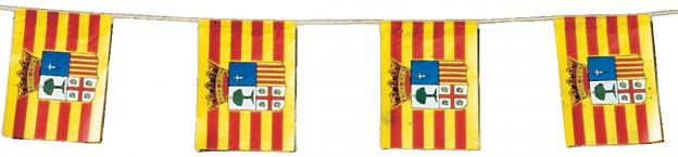 banderas de fiesta de aragón