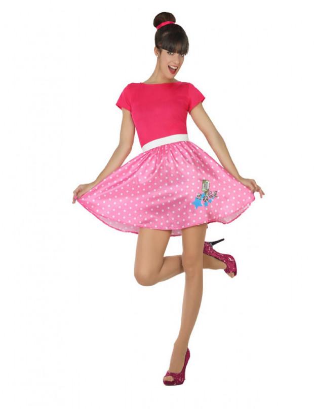 Comprar Disfraz de Chica Años 50 Rosa