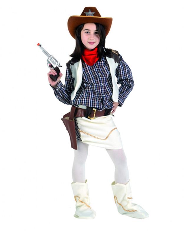 Disfraz de Vaquera Lujo para niñas