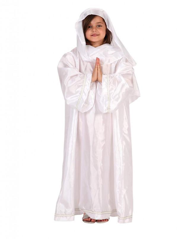 Disfraz de Virgen María para niñas en Navidad