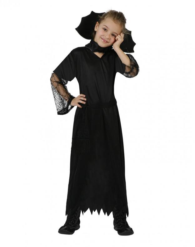 Disfraz de Viuda Negra para niña en Halloween